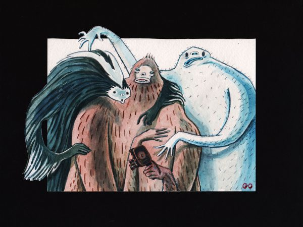 Skunk Ape Bigfoot Yeti by Greg Orfanos
