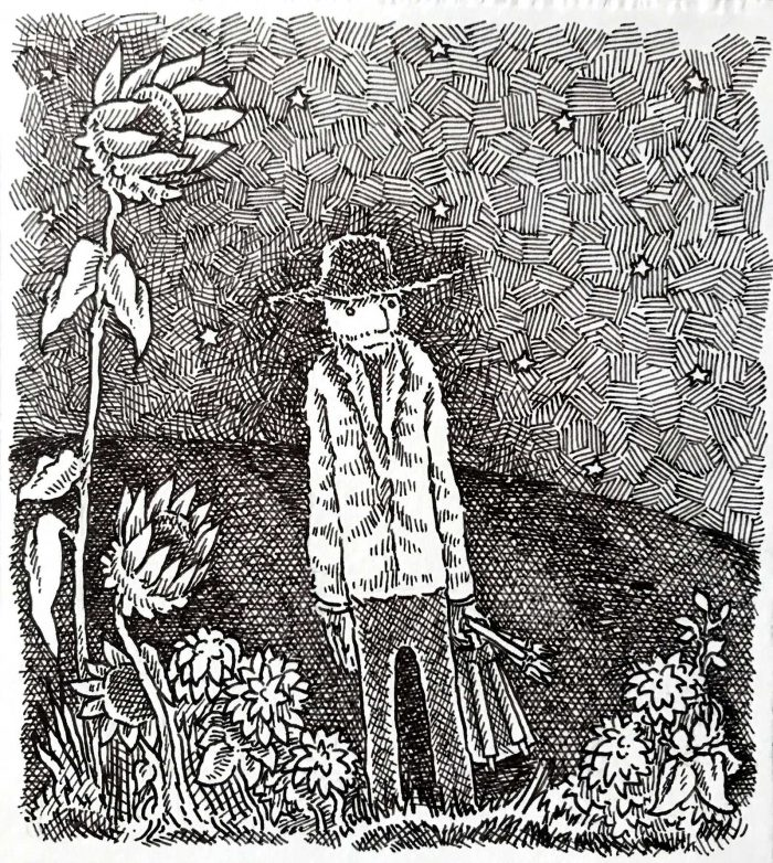 Vincent with Sunflower by Jamison Odone