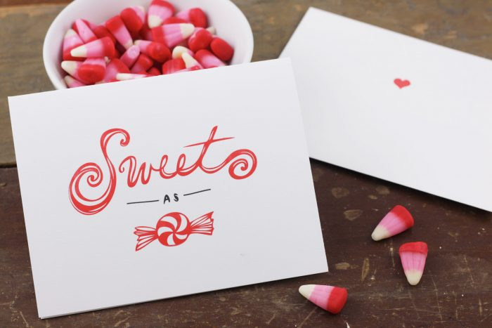 Sweet as Candy Letterpress Card by Heather Ferreira