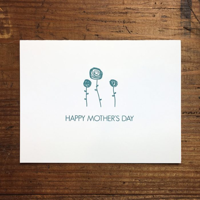Mothers Day Letterpress Card by Heather Ferreira