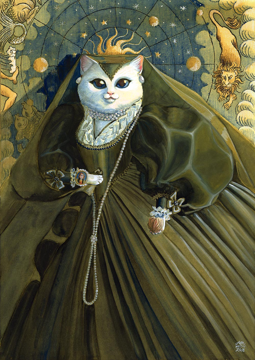 The White Cat Limited Edition Print by Abigail McCoy
