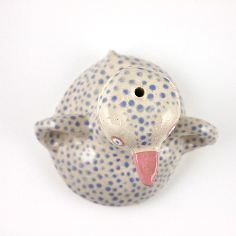 Ceramic Duck Sculpture by Lauren Carozza