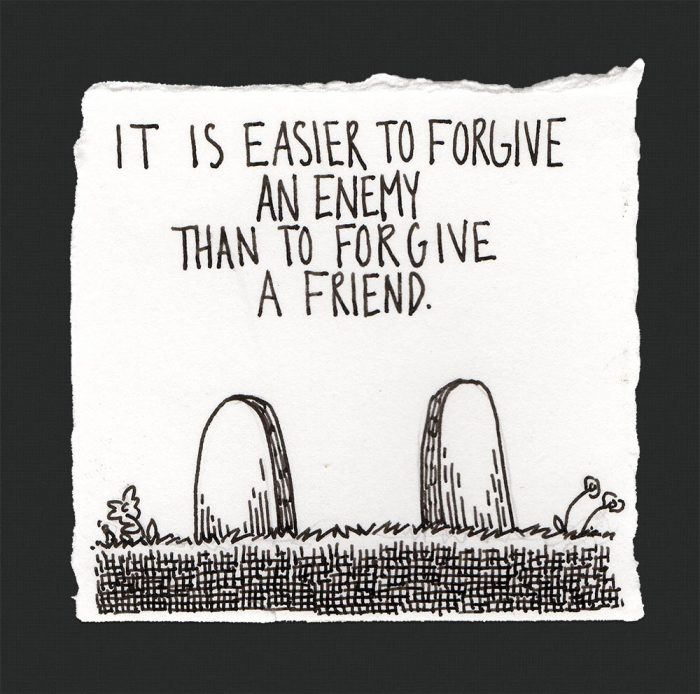 Forgive Pen and Ink by Jamison Odone