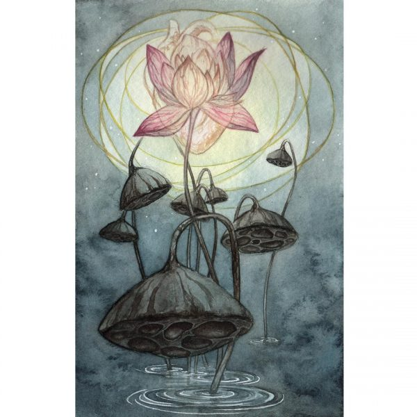 Print of Eight of Cups Tarot done in watercolor