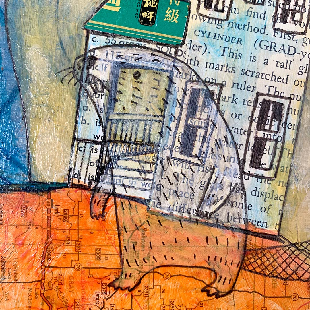 November House Mixed Media Painting by Greg Orfanos